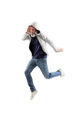 Cool Man Jumping Stock Images