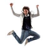 Cool Man Jumping Stock Image