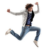 Cool Man Jumping Royalty Free Stock Image