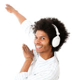 Cool man listening to music Royalty Free Stock Photography