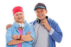 Cool mature couple Royalty Free Stock Photos