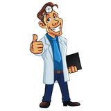 Cool Medical Doctor Cartoon. Vector Royalty Free Stock Images