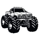 Monster Truck Bigfoot. Vector Stock Images