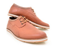 Cool men's leather shoes Stock Image