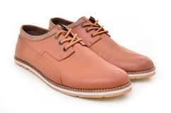 Cool men's leather shoes Stock Photography