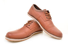 Cool mens leather shoes Royalty Free Stock Photo