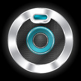 Cool metallic speaker with hexagon mesh Stock Photo