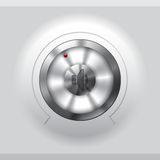 Cool metallic volume knob design Stock Images