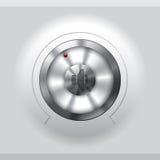Cool metallic volume knob design Stock Images