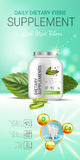 Cool mint dietary supplement ads. Vector Illustration with honey supplement contained in bottle and mint leaves elements. Vertical banner Stock Image