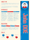 Cool modern curriculum vitae with arrow ribbon Royalty Free Stock Image