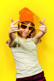 Cool modern girl Stock Images