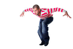 Cool modern man dancer Stock Photos