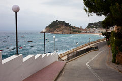 Cool morning in Tossa de Mar Stock Images