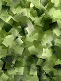 Cool mosaic background in green Stock Image