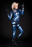 Cool moto girl Stock Photography