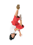 Cool move by breakdancer girl Stock Photography