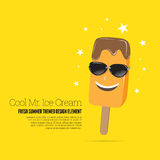 Cool Mr. Ice Cream Royalty Free Stock Photos
