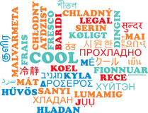 Cool multilanguage wordcloud background concept Royalty Free Stock Images