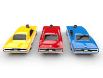 Cool muscle cars - primary colors Royalty Free Stock Photo