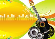 Cool music background Royalty Free Stock Photography