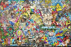 Cool music graffiti royalty free stock photos