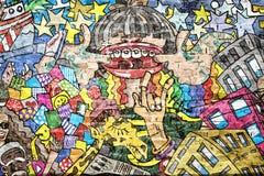 Cool music graffiti stock images