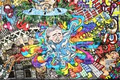 Cool music graffiti stock photography