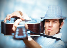 Cool musician Royalty Free Stock Photos
