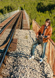 Cool musician Royalty Free Stock Images