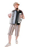 Cool musician with accordion Stock Images