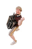 Cool musician with concertina Stock Image