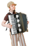 Cool musician with concertina Stock Photography