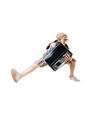 Cool musician jumping high Stock Photos