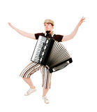 Cool musician on white Royalty Free Stock Photos