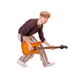 Cool musician on white Stock Image