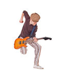 Cool musician on white Stock Photography