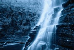 Cool natural cascade in the park Royalty Free Stock Image