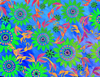 Cool neon floral artwork Stock Photo