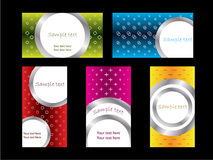Cool new business card set 3 Royalty Free Stock Photography