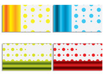 Cool new business card set 6 Stock Photo