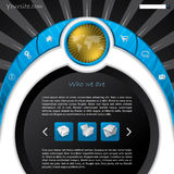 Cool new concept website template design Stock Images