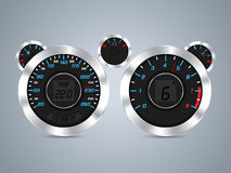 Cool new dashboard design Royalty Free Stock Photo