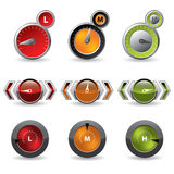 Cool new download speedometers Royalty Free Stock Image