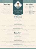 Cool new modern resume curriculum vitae template with design ele Royalty Free Stock Photo