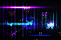 Cool nightlife design with butterflies Stock Photo