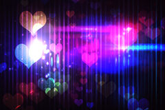 Cool nightlife design with hearts Royalty Free Stock Images