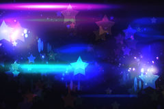 Cool nightlife design with stars. With lights stock illustration