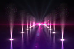 Cool nightlife lights Stock Image