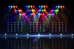 Cool nightlife lights. On black background stock illustration